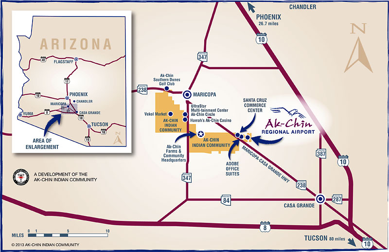 Ak-Chin Regional Airport regional map