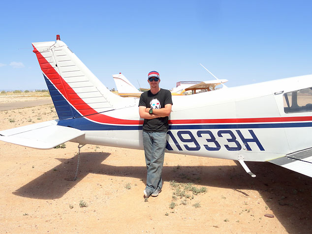 Dave McKee, first solo cross-country flight