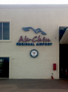 New signage on the terminal building